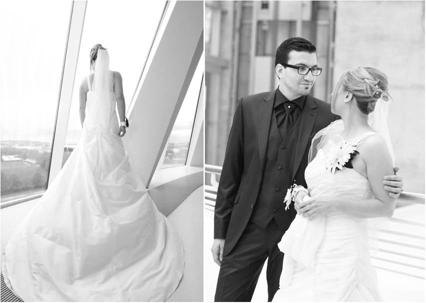 Hochzeitspaar und Brautkleid Mercedes Benz Museum