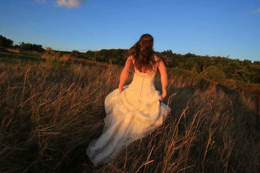 Lässige Hochzeitsfotos